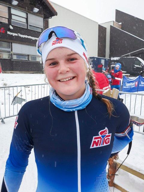 ANDREPLASS: Tuva Aas Stræte skjøt meget godt, og tok andreplassen i Sparebank 1 Cup i skiskyting søndag.