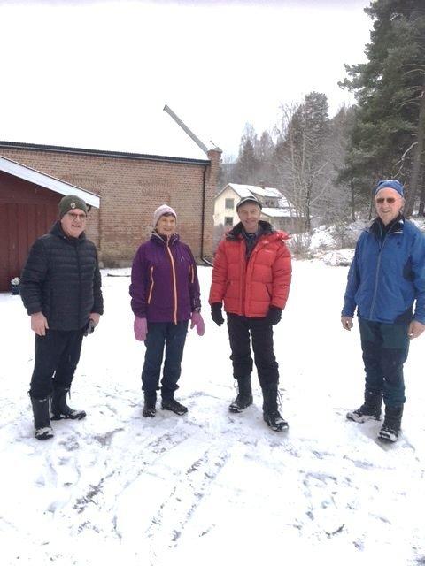 30 ÅR: Disse har deltatt i alle 30 årene. Fra venstre, Emil Esperum, Inger Ruden, Roar Ruden og Iver Stastad