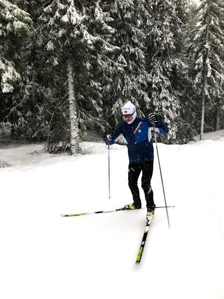 FINE FORHOLD: Emil Sørgård brukte løypene på Ringkollen til trening 3. juledag.