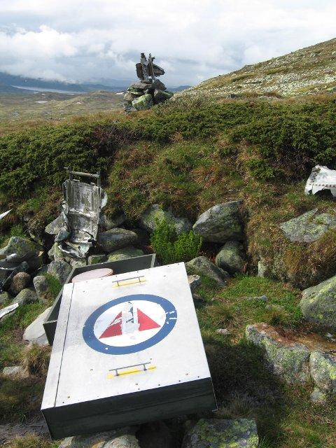 Et minnesmerke og en informasjonskasse er satt opp der et norsk jagerfly styrtet i 1954.