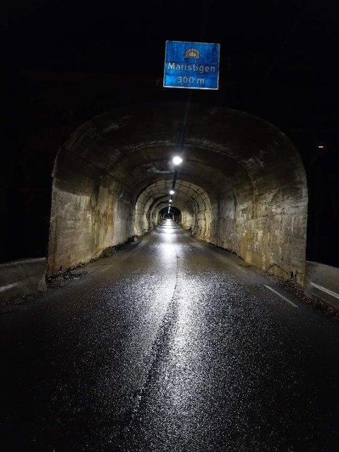 Slik ser det ut i Maristitunnelen nå. (foto Statens vegvesen)