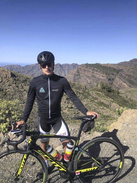 I RUTE: Skal du til topps i sykkelsporten må du tåle opp og nedturer. En må rett og slett være sta som et esel. Mikkel Eide er nå i rute med sitt treningsarbeid, og han er svært optimistisk med tanke på sesongstart.