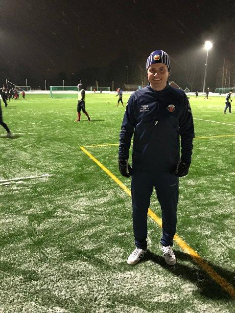 KLAR FOR NY SESONG: 40 år gamle Atle Søgård har ingen planer om å gi seg ennå. Nå er han klar for sin 24. sesong på A-laget til Fet.