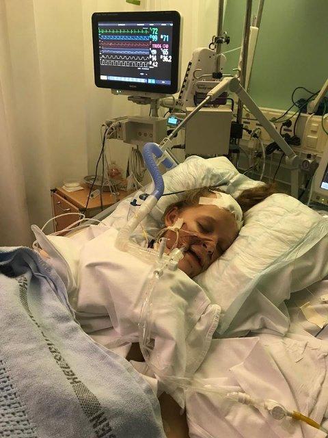 I KOMA: Lise på intensivavdelingen på Ullevål sykehus. Først etter to-tre dager våknet hun til.