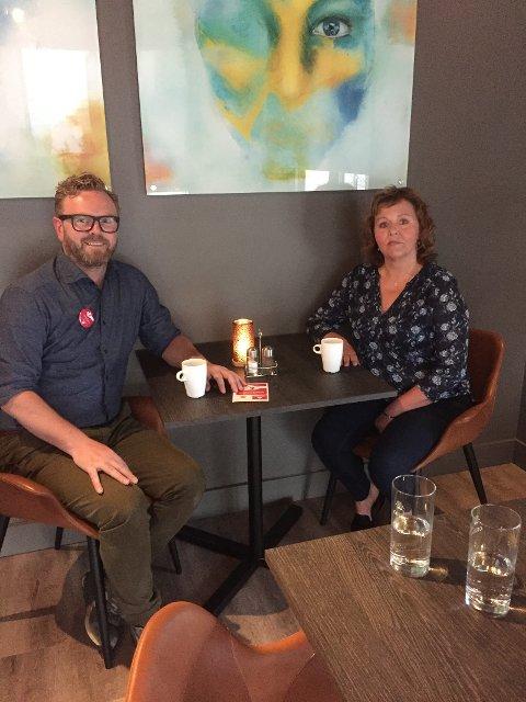 Janne Mette og Anders fra Apoteket var begge fornøyd etter kvelden med fokus på demensvennlig samfunn
