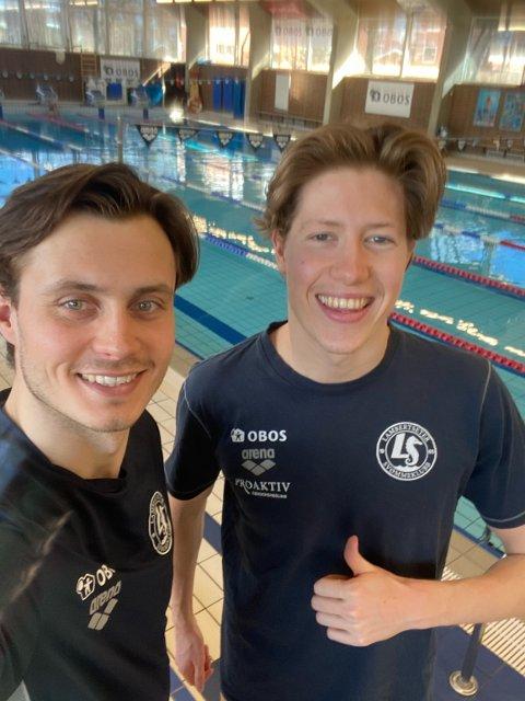 Treningskamerater: Selv om de driver forskjellige idretter, har OL-håpet Henrik Christiansen (t.h.) mange økter med romeriks-kollega Jørgen Gundersen. Han er en av verdens beste svømmere i triatlon.