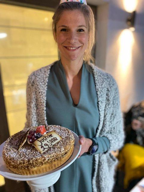 Feiring: Justine Vanhaevermaet feiret bursdagen med belgiske vafler og sjokolade. Men den beste gaven fikk hun da søknaden om å få komme tilbake til Norge og LSK Kvinner ble godkjent.