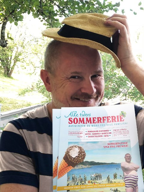 """GOD RESPONS: Håvard Mossige fortsetter suksessen med utgivelser av hefter. """"Alle tiders sommerferie"""" går unna som varmt hvetebrød, ifølge Vigmostad Bjørke forlag."""