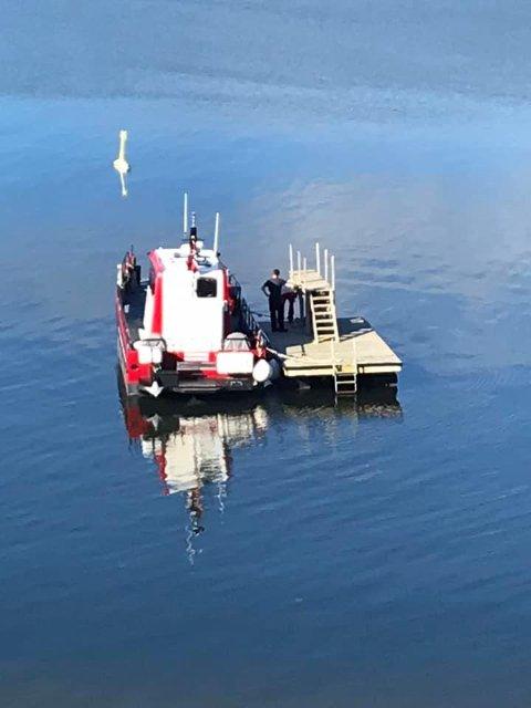FJERNET STUPETÅRNET: Onsdag tok Holmestrand kommune grep og demonterte stupetårnet.