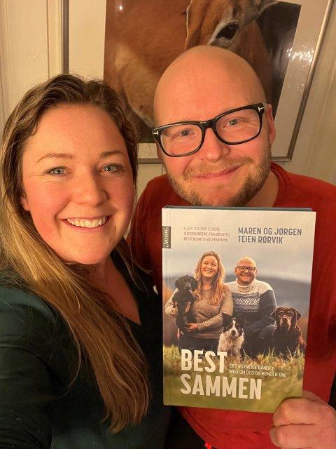 Boken kommer 22. januar: Maren og Jørgen Teien Rørvik gleder seg stort til fredagen; da kommer nemlig deres splitter nye bok i Norges butikkhyller.