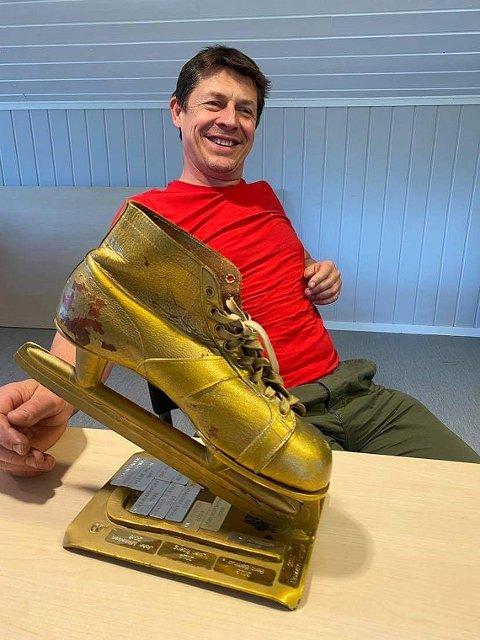 HEDRET: Roger Høydahl er tildelt årets gullskøyte.