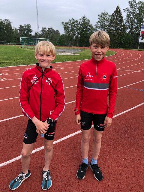David Sindre Risberg og Sindre Frugård går begge på STIF Friidrett og gleder seg til en uke med friidrett.