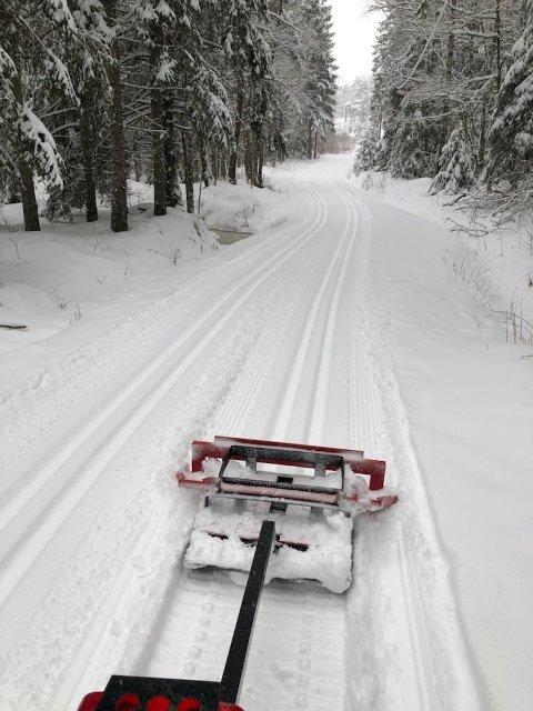 VINTERFERIE: Vinterferien står for døren og i Marum er det nå ypperlige skiforhold.