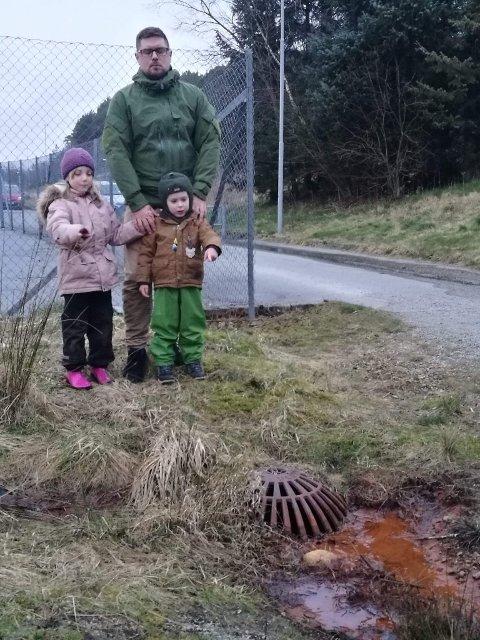 Stian Nielsen ferdes ofte i området sammen med sine to barn Tiril Meling Nielsen (6) og Teodor Meling Nielsen (4)