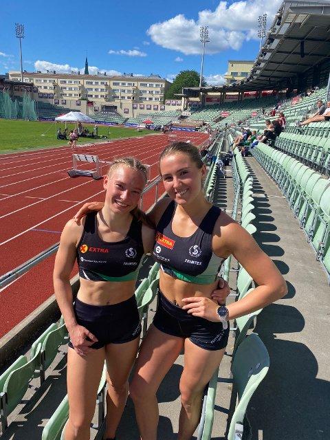 Synne Eikeland (t.v.) og Nora Haugen gjorde sine saker veldig godt lørdag.