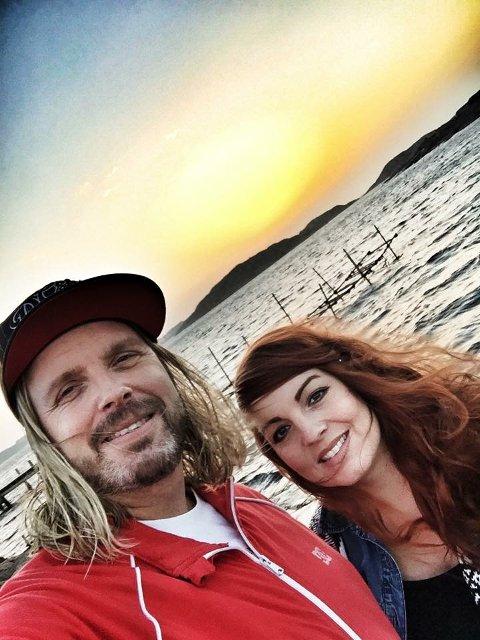 STERKT: Tatt i Havstenssund, Sverige, der vi har hytte. Jeg er gravid i 8.måned og vi har noen måneder tidligere fått vite at Ove hadde fått tilbakefall av føflekkreft og at han aldri ville bli frisk, forteller Eva.