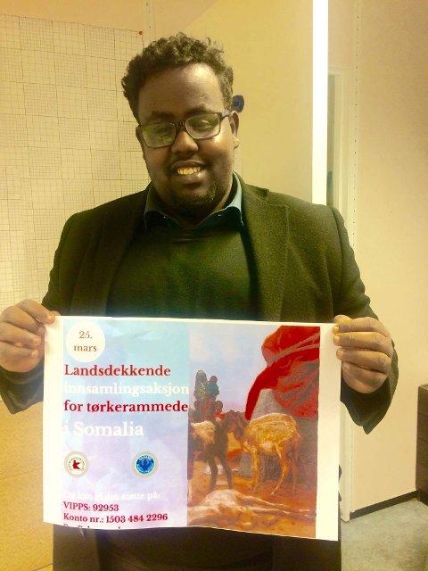 HÅPER PÅ GIVERGLEDE: Talsperson for det somaliske miljø i Østfold Mahad Abukar Osman.