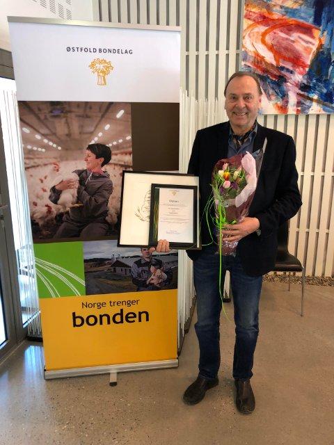 Prisen ble delt ut på Østfold Bondelag sitt årsmøte på Hafslund Hovedgård.