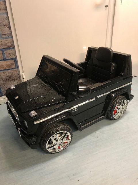 HENSATT: Denne elektriske lekebilen står parkert i lokalene til Borg Bingo på Borgenhaugen.