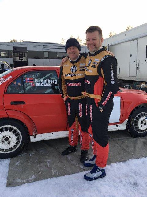 DREAMTEAM: Sju år er gått siden Henning Solberg og kartleser Cato Menkerud sist kjørte løp sammen. I Romjulsrally på Elverum var de sammen igjen. Det med suksess.