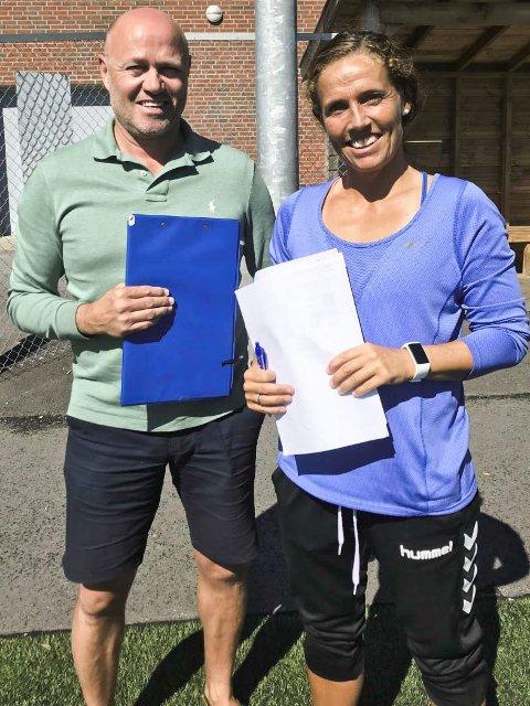 Fornøyde: Glenn Rostad (47) og Camilla Huse (38) er fornøyde med elevenes innsats.