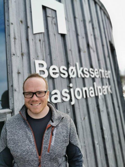 NY DAGLIG LEDER: 36 år gamle Finn-Stephan Dybvik er enstemmig vedtatt ny leder i Lierne Nasjonalparksenter IKS.