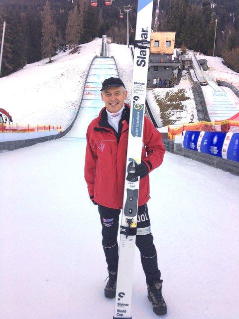 OLYMPISK MEISTER: Jon Ove Lomheim sikra seg OL-gull i kombinert under Innsbruck OL 2020. Bilete er teke før i veka. (Arkivfoto)
