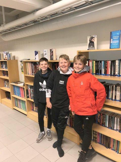 FRÅ ELDST TIL YNGST: Jørgen, Even og Erlend er klare for å gå frå å vera eldst til å vera yngst då dei no byrjar på ungdomsskulen.