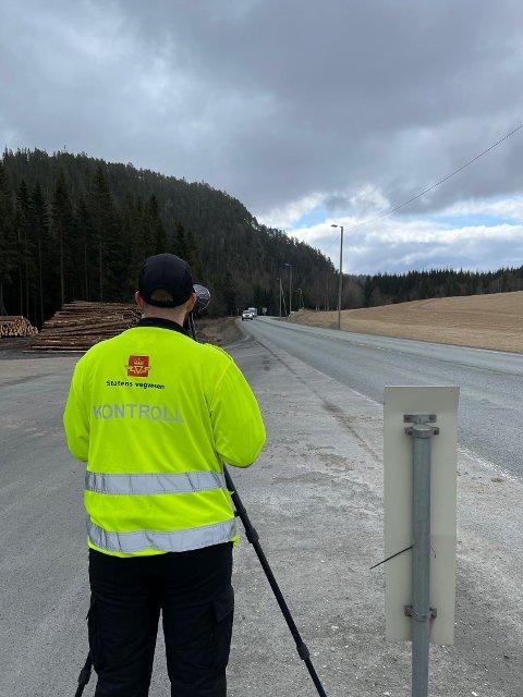 Kontrollerte E6: Statens vegvesen hadde kontroll ved Rungstadvatnet