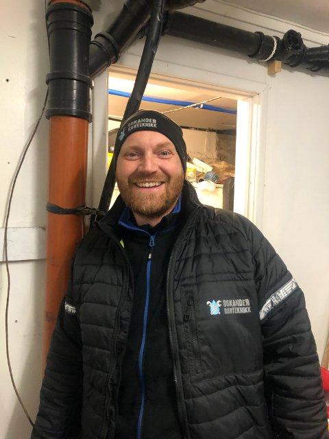 Jens Bokander i Bokander Rørteknikk forteller at det har vært mange frosne rør på Østlandet i vinter.