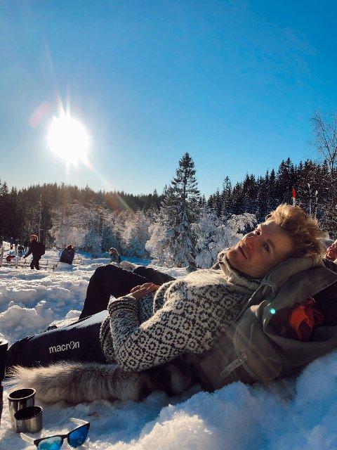 KOBLER AV: Emil Jonassen foretrekker å komme seg ut i friluft når han har fri. Den tidligere Odd-spilleren reiser på tur hver eneste uke.