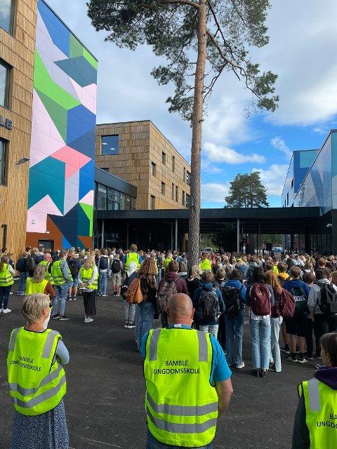 STOR INVESTERING: Nye Grasmyr ungdomsskole åpnet til skolestart i år og det er store ambisjoner for kantinedriften.