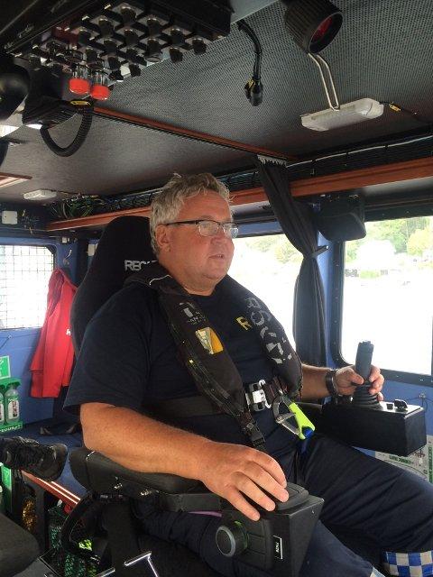 Anders Gundersen, skipper på redningsskøyta Eivind Eckbo.