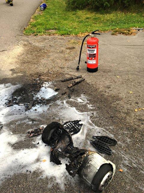 SLUKKET: Brannen i ståjulingen ble raskt slukket.