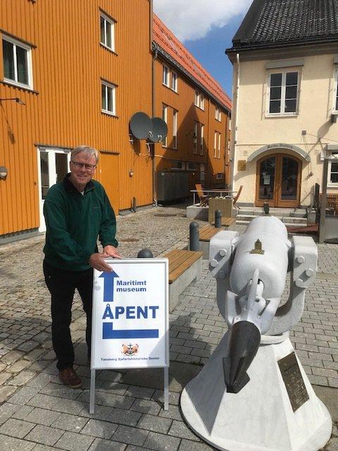 ÅPNER: Arnt Olav Holm og resten av Tønsberg Sjømannsforening åpner dørene til museet sitt 15. mai.