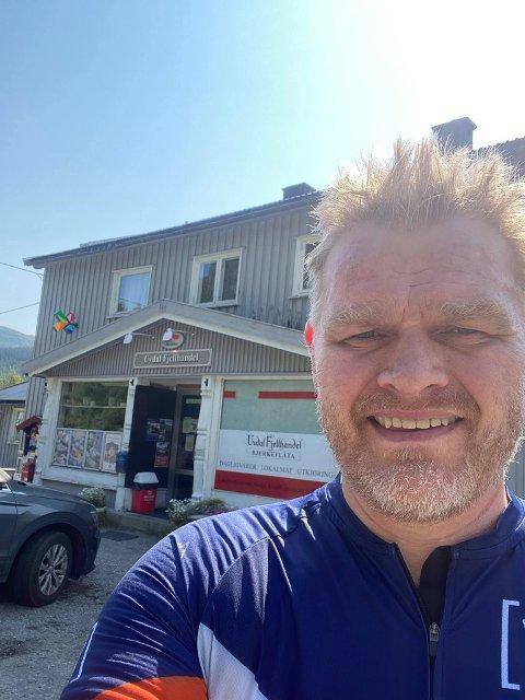UTFORDRING: Sigbjørn Brennhovd satte seg seg selv på prøve da han skulle dra på familiebesøk i sommer.