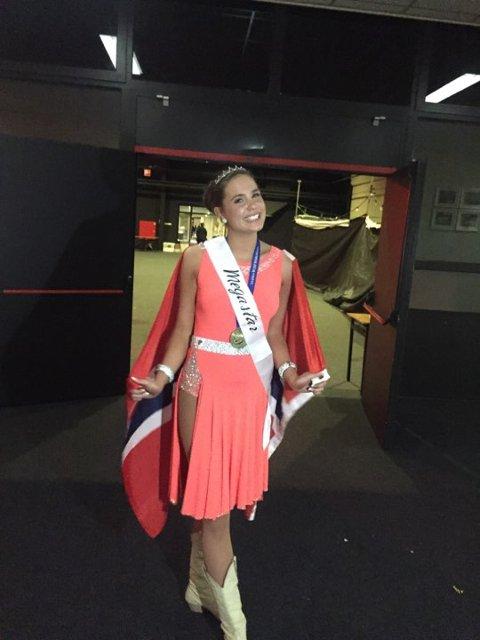 Verdensmester: Anja Riste (20) fra Lomen kan kalle seg verdensmester i linedance.