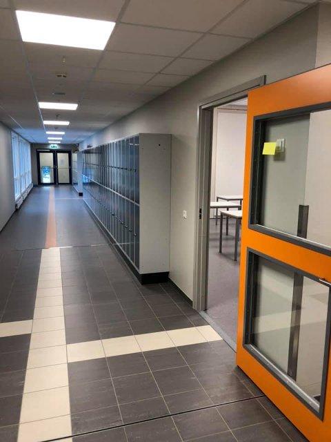 Gangen: Slik ser det ut i gangene.
