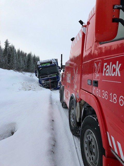 Vogntoget fra Estland fikk hjelp og kom seg videre uten dramatikk.