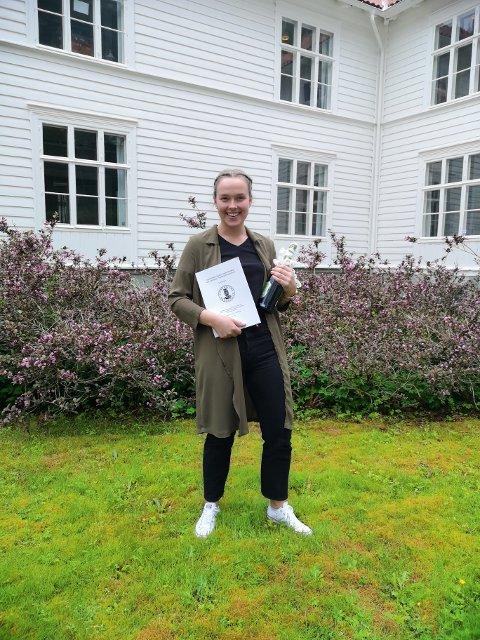 Interessante funn: Anja Hjortland holder fram masteroppgaven, etter å ha forsvart oppgaven i Bergen tidligere i år.