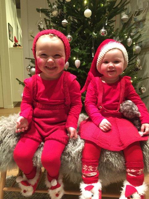 JUL I ET BILDE: Rubina Butt har tatt dette bildet av søskenparet Iver (3) og Marie (2).