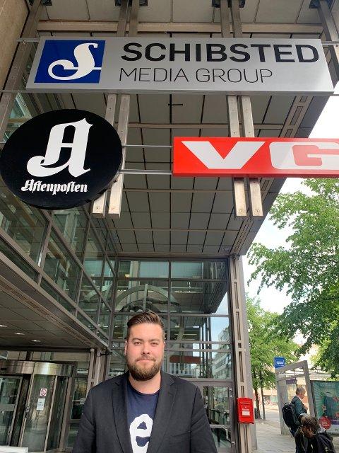 Vegen videre: Mandag var hovedtillitsvalgt Kim Daniel Vorpvik i Oslo for å diskutere vegen videre for de 120 ansatte på Fagernes med ledelsen.
