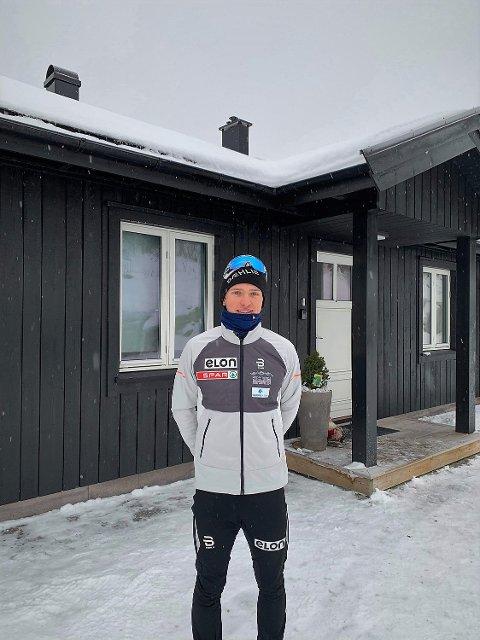 Hus på Beitostølen: Jon Rolf trener, spiser og sover seg til suksess i Valdres.