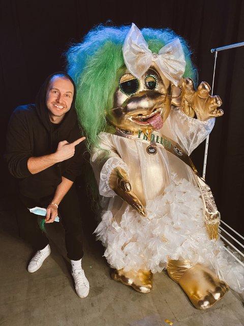 Trollmanager: Christoffer Gunnestad var en av få i landet som visste at det var artist Ulrikke Brandstorp, som han er manager for, som skjulte seg bak «Maskorama»-vinner «Trollet».