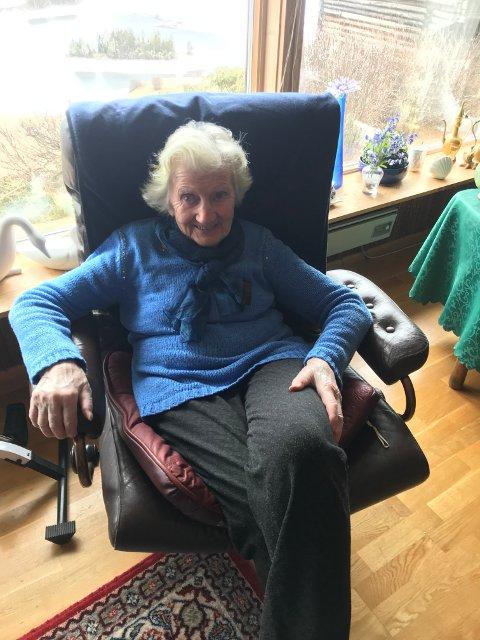 Stor påkjenning: Det har vært en stor påkjenning for 92-årige Torny Marheim å flytte ut av omsorgsboligen, der hun har bodd de siste ti årene.  Foto: privat)