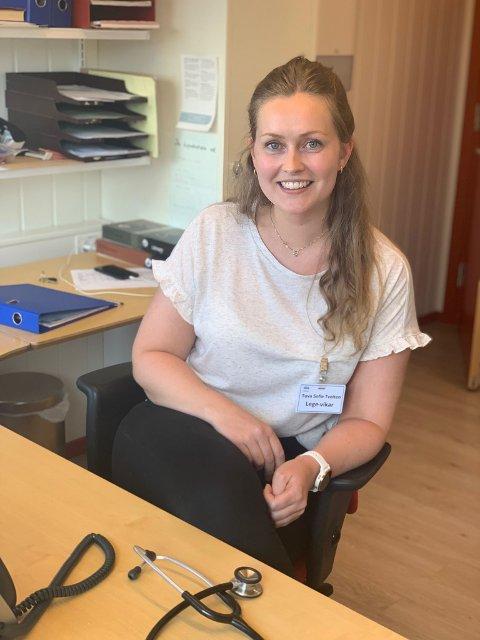 Trives: Tuva Sofie Tveiten trives svært godt som lege-vikar på Beitostølen Helsesportsenter.