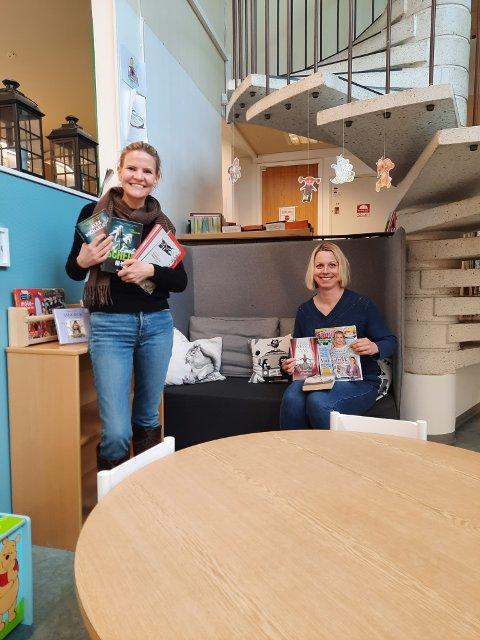 Samarbeider: Marta Bjørnøy Lalim, leder for Nord-Aurdal Frivilligsentral, og biblioteksjef Torill Johme i Nord-Aurdal samarbeider om en ny tjeneste som skal få bøker ut også til lånerne som må holde seg hjemme.