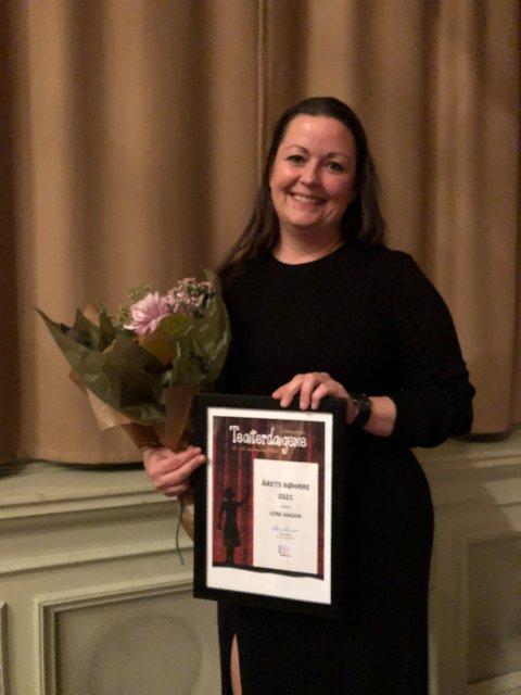 HAR FÅTT MANGE GRATULASJONER: Lene Hagen forteller at hun har fått flere hyggelige gratulasjoner og tilbakemeldinger etter at hun mottok Bøhrreprisen denne helgen.