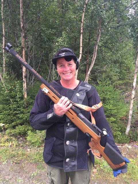 Heidi Pedersen var svært fornøyd etter ny personlig rekord i feltløypa.