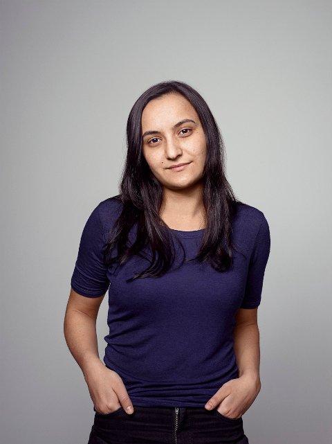 ENGASJERT: Da Seher Aydar begynte på Glemmen videregående skole begynte hun å engasjere seg i politikken. Først ble hun medlem i Rød ungdom, og nå er hun en sentral figur i partiet Rødt i Oslo.
